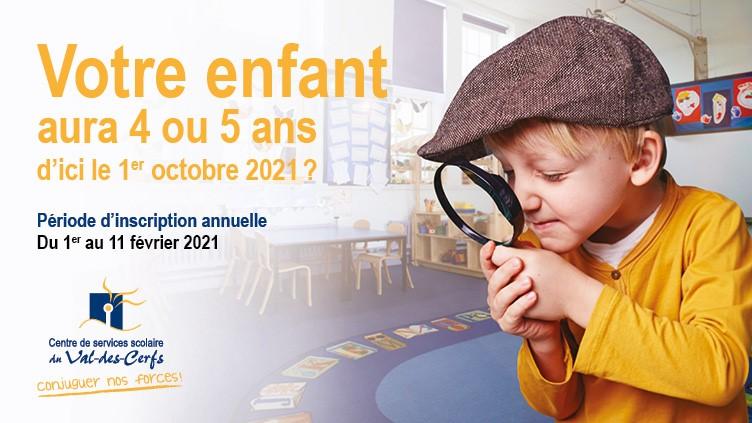 Inscription passe-partout et maternelle (2021-2022)